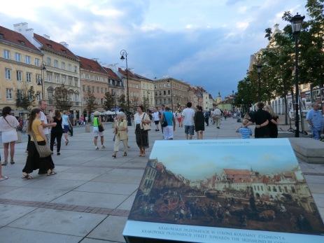 Gjennoppbygging av byen etter krigen ut i fra malerier