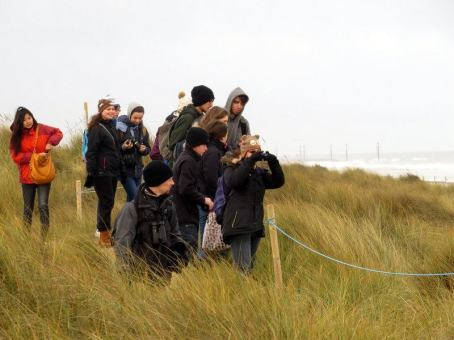 Me with CAWS looking at Grey seals at Horsey gap (photo not mine)