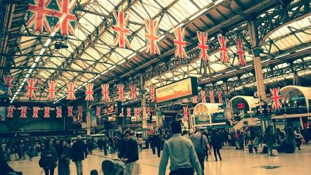 Britishness at Victoria station