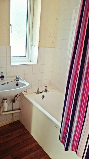The bathroom upstairs