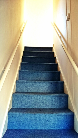 The stairs up to Jodie, Katharine's and my bedroom