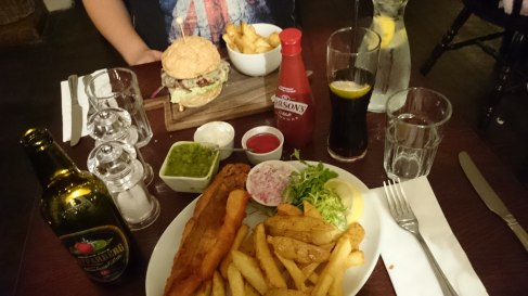 Meal at the Cellar House Pub