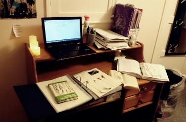 My desk Wednesday evening