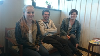 Katharine, Ben and David